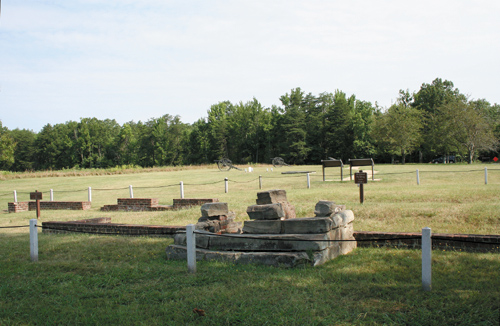 Remains of the Chancellor house, Union commander Joe Hooker's headquarters. The general was injured here on May 3, 1863
