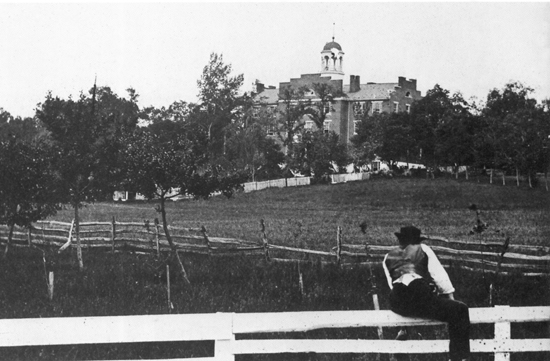 The Lutheran Theological Seminary, view looking west. The cupola was used by Union cavalryman Brig. Gen. John Buford to observe the Confederate advance on July 1, 1863.