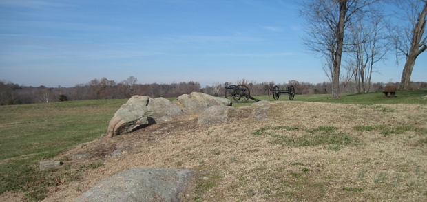 The Hillsman property at the new Sailor's Creek Battlefield Historical State Park in Virginia was a Union artillery position during the battle.